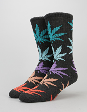 HUF Melange Plantlife Crew Socks - Black/Multi