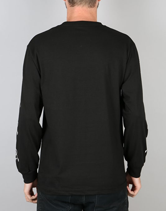 HUF x Skate NYC L/S T-Shirt - Black