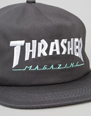 Thrasher Two-Tone Magazine Logo Cap - Grey