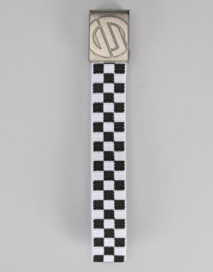 Santa Cruz Embossed Knot Chequer Belt - Black/White