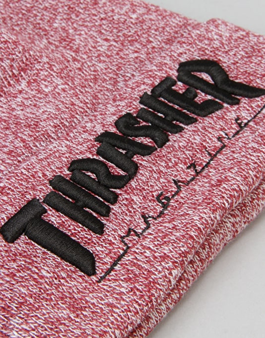 Thrasher Embroidered Logo Beanie - Maroon/Black