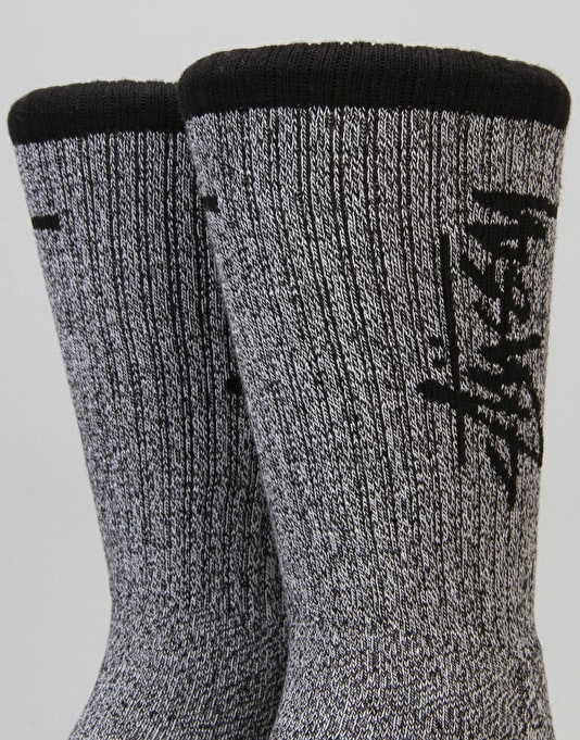 Stüssy Stock Premium Socks - Black/White