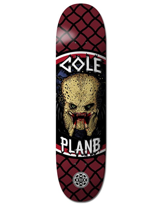 Plan B Cole Savages BLK ICE Pro Deck - 8.5""