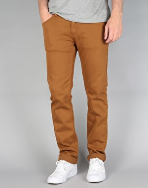 Emerica Pure Slim 5 Pocket Denim Jeans - Brown