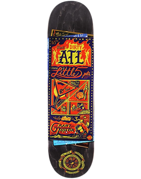 Anti Hero Taylor Maps to the Skaters Homes Skateboard Deck - 8.25""