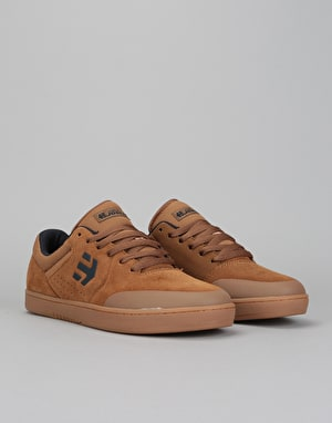 Etnies x Michelin Marana Skate Shoes - Brown/Navy/Gum