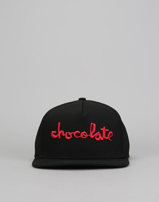 Chocolate Chunk Snapback Cap - Black