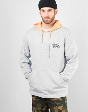 Stüssy Two Tone Pullover Hoodie - Grey Heather