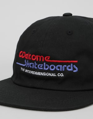 Welcome Interdimensional Unstructured Snapback Cap - Black