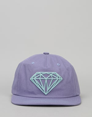 Diamond Supply Co. Brilliant Unconstructed Snapback Cap - Puple