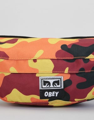 Obey Drop Out Sling Cross Body Bag - Orange Field Camo