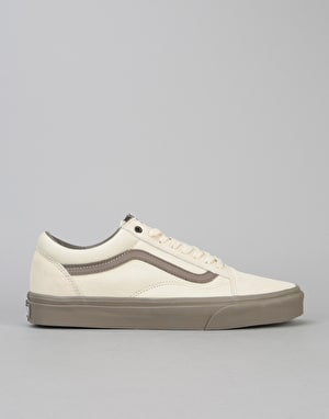 Vans Old Skool Skate Shoes - Cream/Walnut