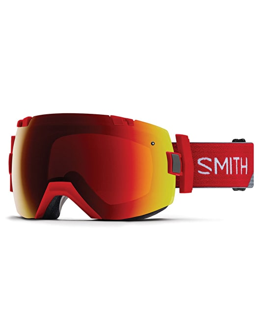 Smith I/OX 2018 Snowboard Goggles - Fire Split/Sun Red Mirror
