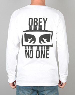 Obey No One L/S T-Shirt - White