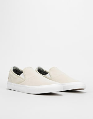 Emerica Wino G6 Slip-On Skate Shoes - White/White