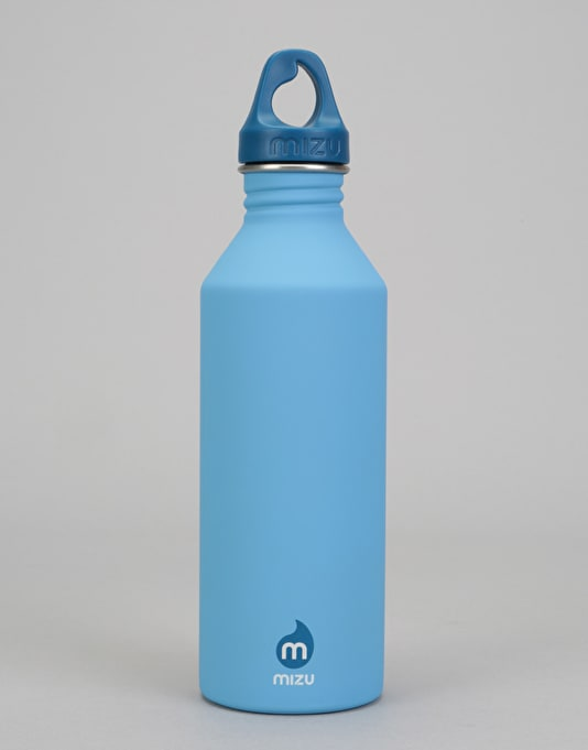 MIZU M8 Logo 800ml/27oz Water Bottle - Light Blue/Blue