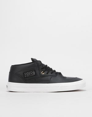 Vans Half Cab DX Skate Shoes - (Leather) Black/Gold
