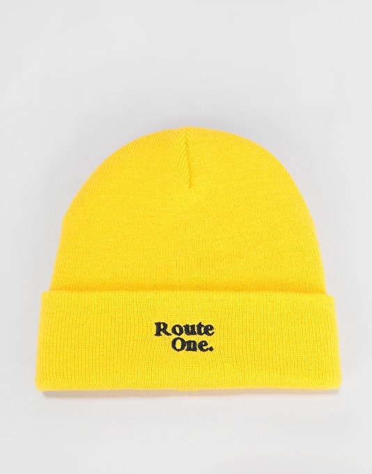 c05bd8565e7 Route One Bambi Beanie - Yellow