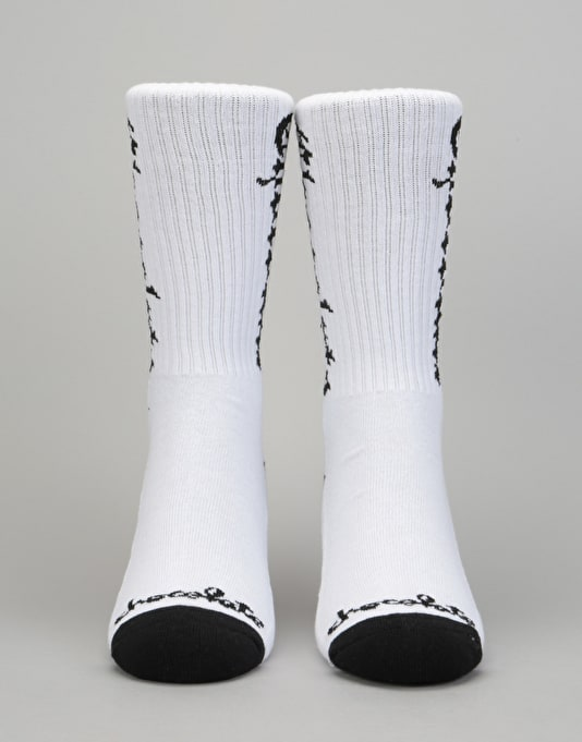Chocolate Eazy C Socks - White