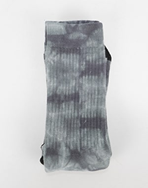 Route One Tie Dye Crew Socks - Black
