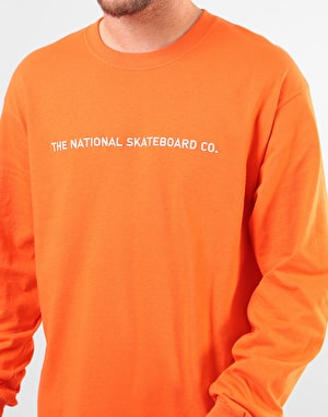 The National Skateboard Co. Classic L/S T-Shirt - Burnt Orange