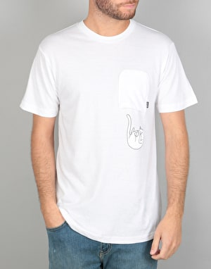 RIPNDIP Falling for Nermal Pocket T-Shirt - White Wash