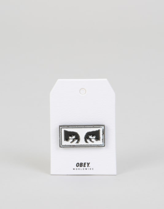 Obey Eyes Pin - Black/White
