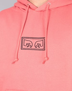 Obey These Eyes Pullover Hoodie - Rose