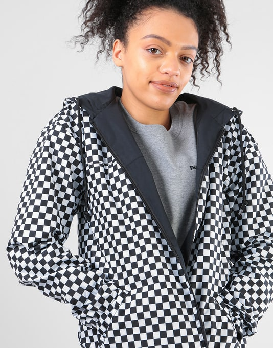 Vans Womens Mercy Reversible Parka Jacket  - Checkerboard