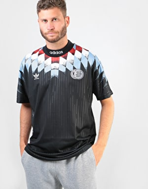 Adidas Silvas (Germany) S/S Jersey - Black/White/Clear Blue/Scarlet