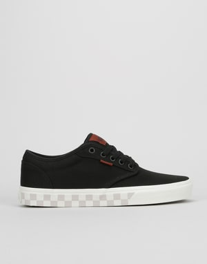 Vans Atwood Skate Shoes - (Check Fox) Black