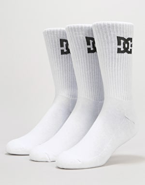DC Crew Socks 3 Pack - Snow White