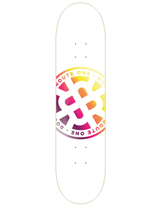 Route One Stamp Logo Skateboard Deck - 8""