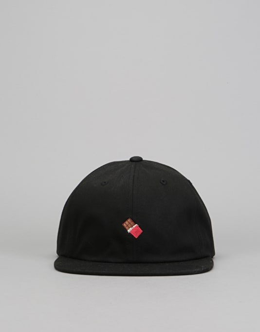 Chocolate Emoji 6 Panel Strapback Cap - Black