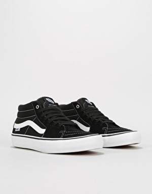 Vans Sk8-Mid Pro Skate Shoes - Black/White