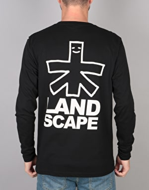 Landscape Outline L/S T-Shirt - Black
