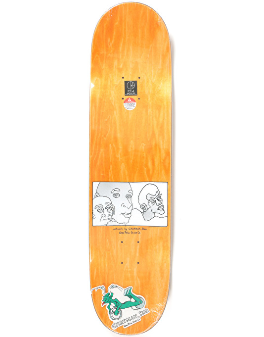 Polar x Dear x Ron Chatman Three Faces Skateboard Deck - 8.25""