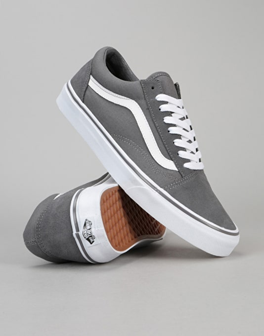 Vans Old Skool Skate Shoes - (Canvas Suede) Tornado/True White