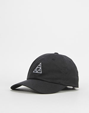 HUF Triple Triangle Curved Visor Cap - Black
