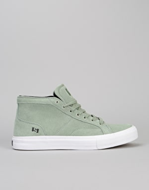 State Salem Skate Shoes - Mint/White Suede