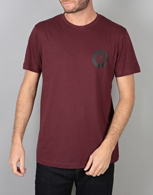 WeSC Varsity Chest T-Shirt - Red Port