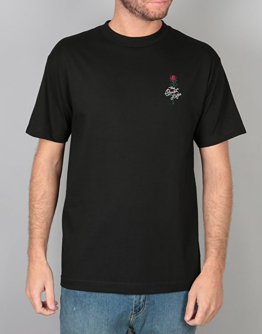 The Quiet Life Rose T-Shirt - Black