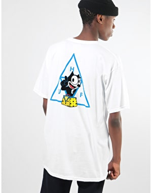 HUF x Felix The Cat Felix Triple Triangle T-Shirt - White