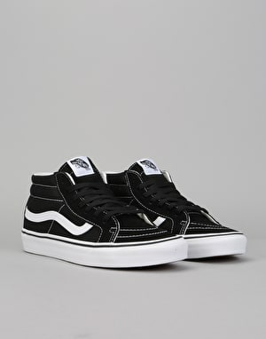 Vans Sk8-Mid Reissue Skate Shoes - Black/True White