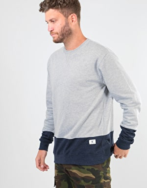 DC Rebel Lo Block Crew - Grey Heather