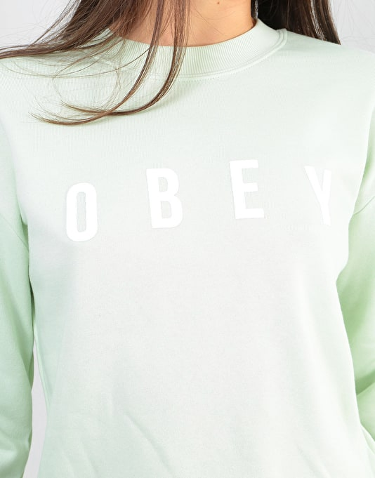 Obey Womens Anyway Crew - Sea Green