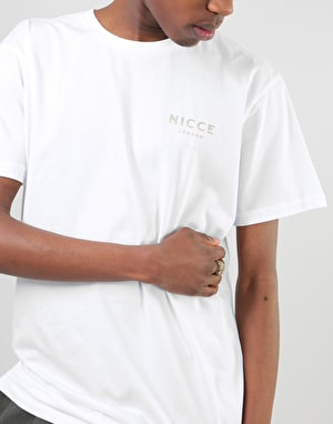 Nicce Split Logo T-Shirt - White