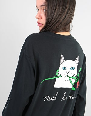 RIPNDIP Womens Romantic Nerm Oversized L/S T-Shirt - Black