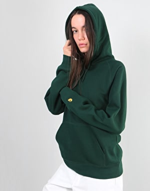 Carhartt Womens Hooded Chase Oversized Sweatshirt - Tasmania/Gold