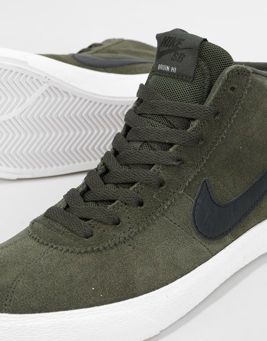 Nike SB Bruin Hi Womens Trainers - Sequoia/Black-Summit White
